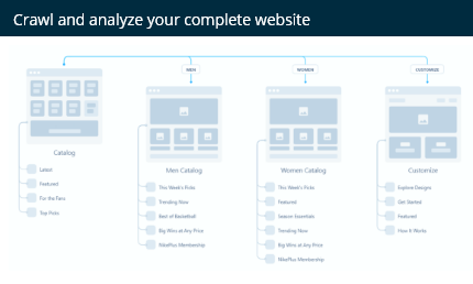Website structure analysis
