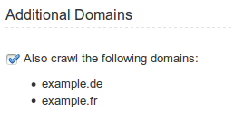 Enable or disable additional domains per crawl